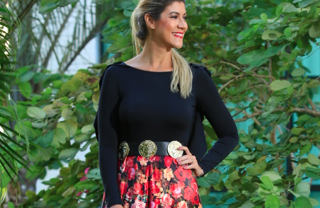 Look do dia: Saia longa com estampa floral + body