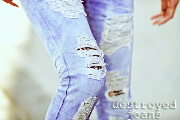 Tendencia: Jeans Destroyed