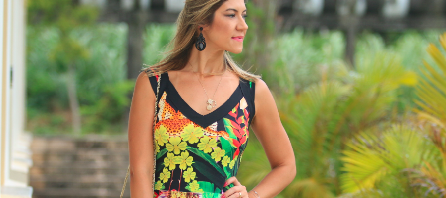 Look do dia: Floral dress