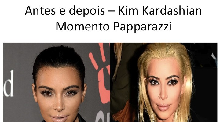 Momento papparazzi: Kim Kardashian loira !!! (WOW)