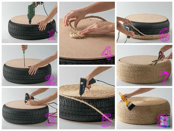 decoracao-pneu-reutilizar-pneu-carro-dyi-como-fazer-puff-pneu