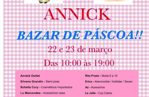 Bazar de Páscoa Annick