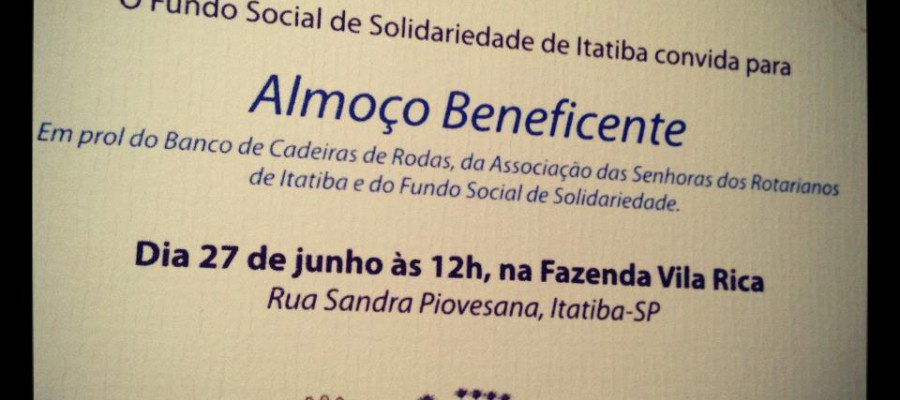 Almoço Beneficente