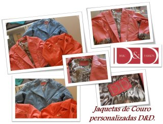 Jaquetas de couro personalizadas D&D Basic Fashion