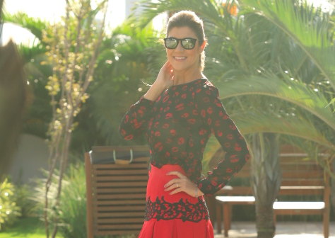 Look do dia: Red lips
