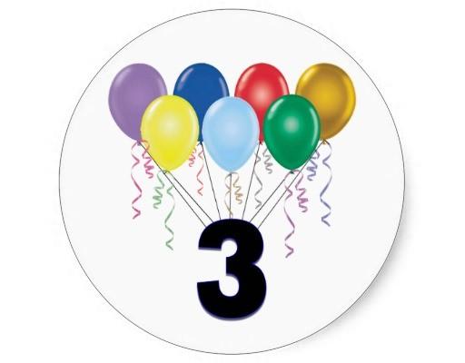 Aniversário de 03 anos do Blog !!!