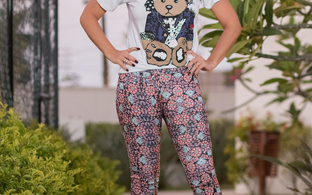 Look do dia: Calça flare estampada