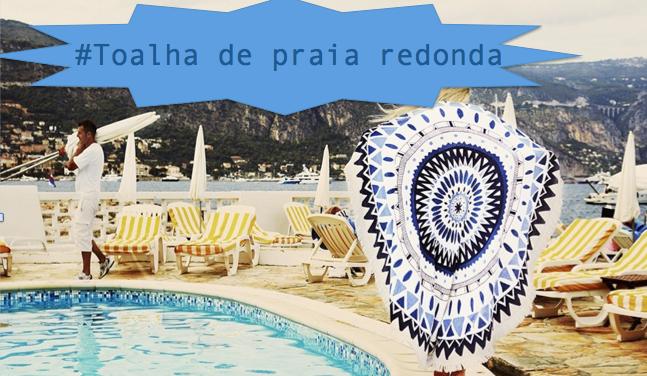 Novidade: Toalha de praia redonda!!!