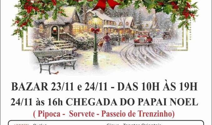 Bazar de Natal e Chegada do Papai Noel na Annick