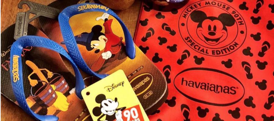 Nova coleção da Havaianas celebra os 90 anos do Mickey