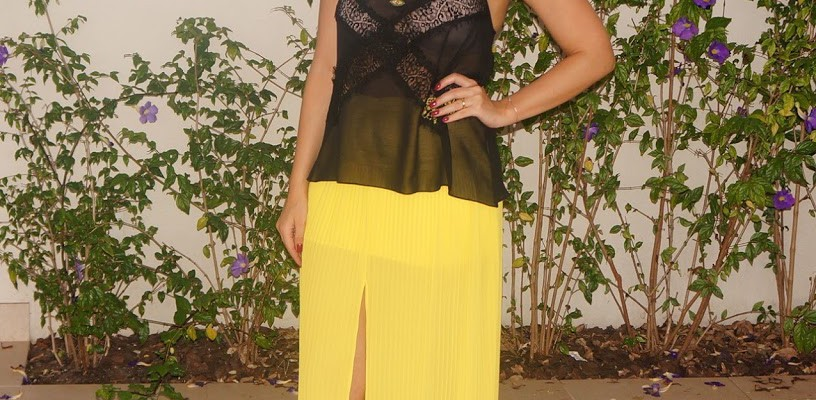 Look do dia: Yellow and Black